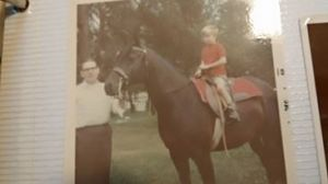 Me on Missy in 1968 or '69. That's my great-uncle with me.