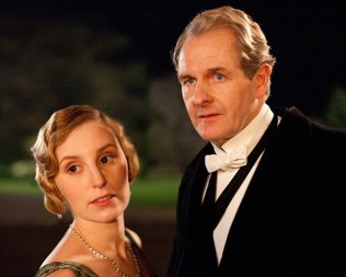 Strictly embargoed until 00.01AM Tuesday 28th August ITV1 Drama, Downton Abbey Series 3. Episode 1 Laura Carmichael as Lady Edith, Robert Bathurst as Sir Anthony Strallan The third series, set in 1920, sees the return of all the much loved characters in the sumptuous setting of Downton Abbey. As they face new challenges, the Crawley family and the servants who work for them remain inseparably interlinked © Carnival Film & Television Limited