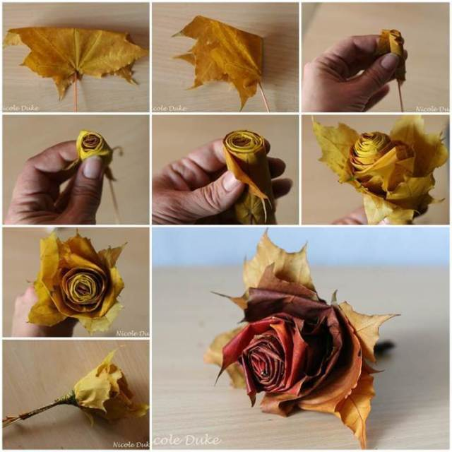 creative-ideas-diy-beautiful-maple-leaf-rose-700x700