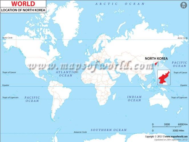 north-korea-location-map