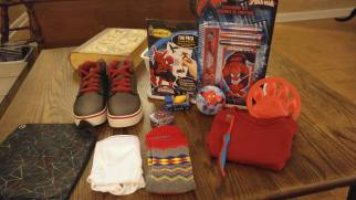 Boy 5 to 9 box. Shoes are the Wow item.