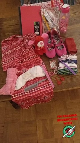 Big girl's box. Shoes are the Wow item.