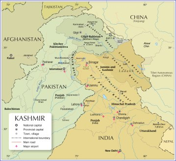 Kashmir-political-map