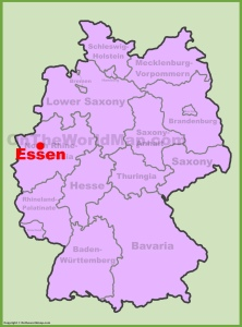 essen-location-on-the-germany-map