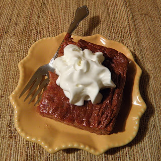 Plate of Pudding with Whipped Cream