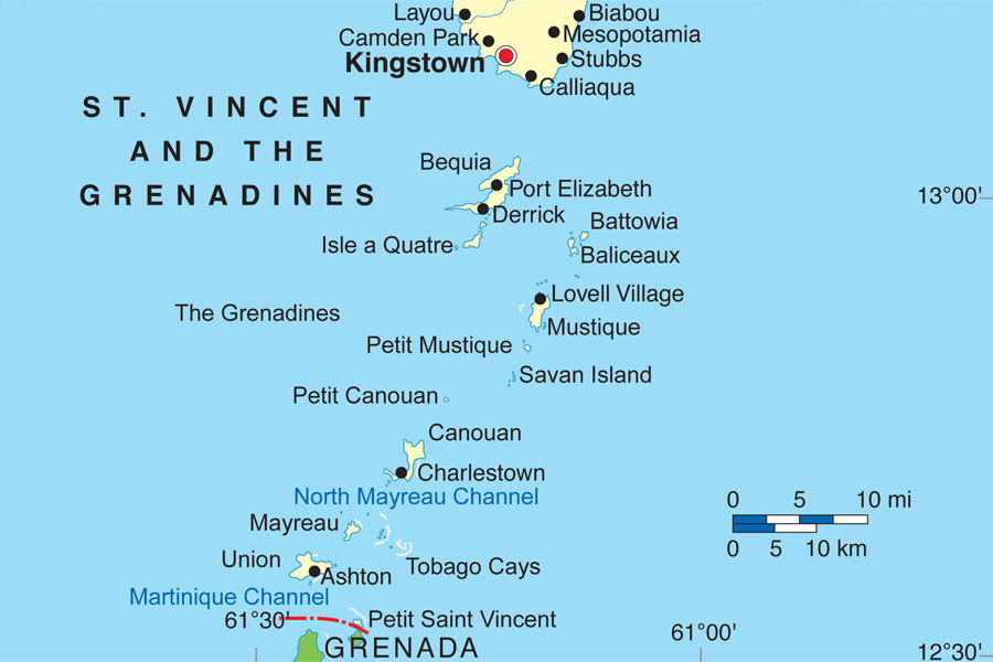 map-of-the-grenadines