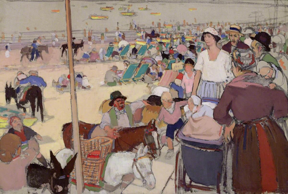 Sutherland, David Macbeth, 1883-1973; Bank Holiday, Portobello Beach